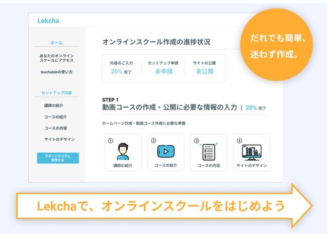 誰でも簡単に動画教材を販売できる「Lekcha (レクチャ)」が利用登録を開始